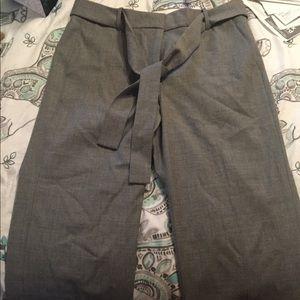 JCrew Gray woven pants size 12